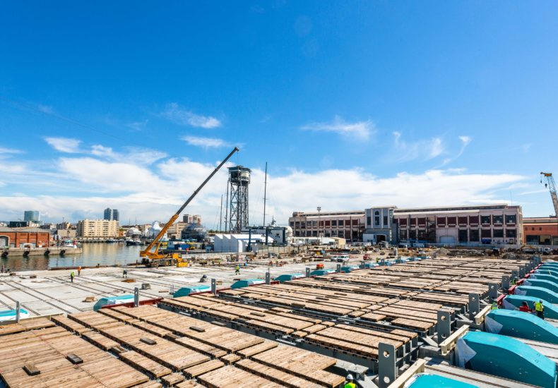 obras de amplicación del puerto de Barcelona