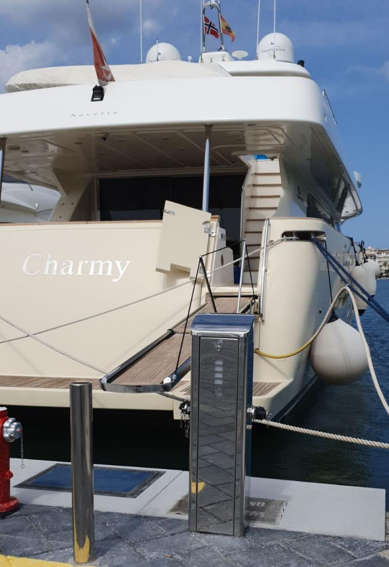 Torreta Flovac con barco